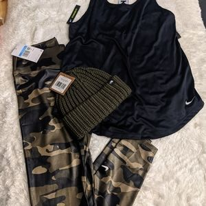 Women's Nike dry fit bundle with beanie